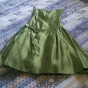 Jessica McLintock // strapless cocktail dress